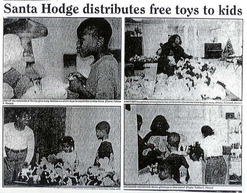 Santa Hodge Distributed Free Toys for Children