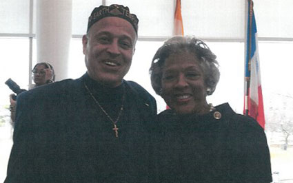 Tony Hodge With Godsister Joyce Beatty